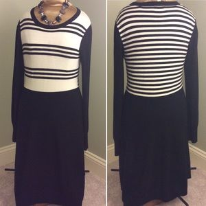 Eliza J Dresses Fit Flare Striped Knit Career Dress Poshmark